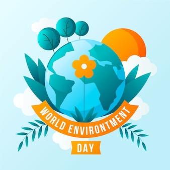 Wereld milieu dagstijl