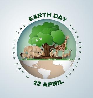 Wereld milieu en aarde dag concept,