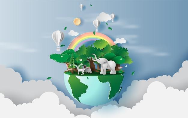 Wereld milieu en aarde dag