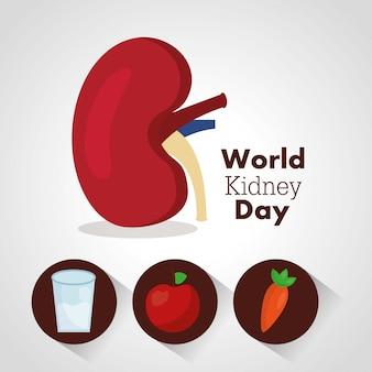 Wereld nier dag illustratie