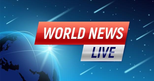 Wereld nieuws achtergrond