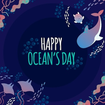 Wereld oceanen dag concept