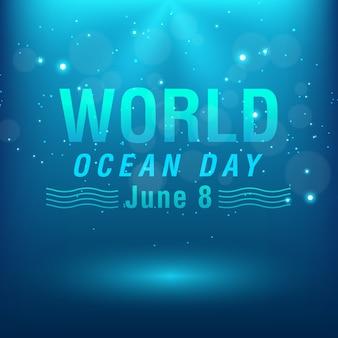 Wereld oceanen dag conceptontwerp