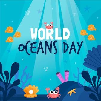 Wereld oceanen dag evenement thema