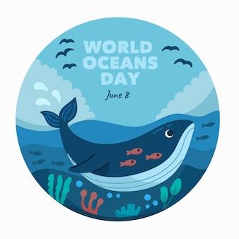 Wereld oceanen dag tekenen