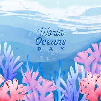Wereld oceanen dag thema