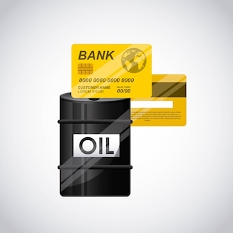 Wereld olieprijzen ontwerpen