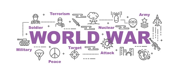 Wereld oorlog vector banner
