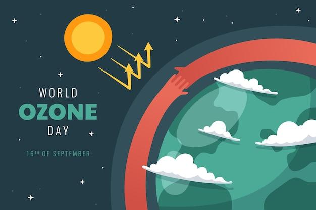 Wereld ozon dag achtergrond