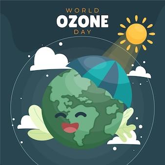 Wereld ozon dag illustratie