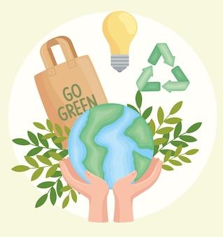 Wereld planeet ecologie