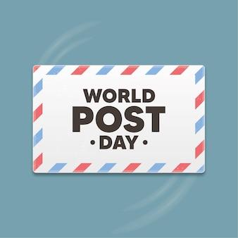 Wereld post dag banner. vector illustratie