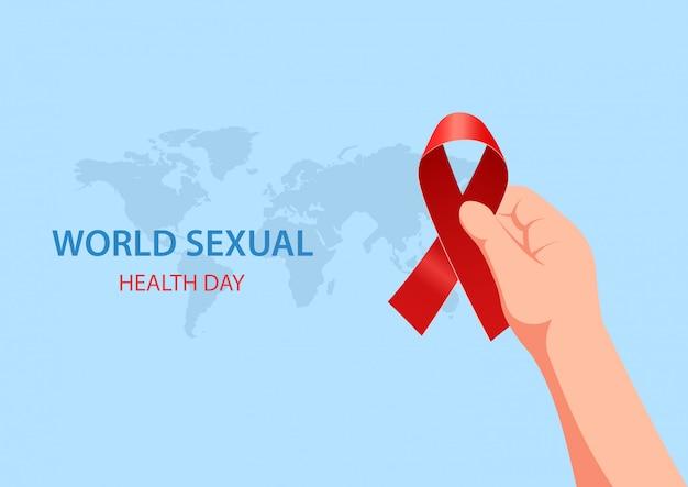 Wereld seksuele gezondheid dag concept. vector illustratie