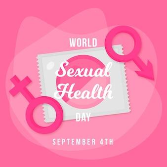 Wereld seksuele gezondheid dag evenement illustratie