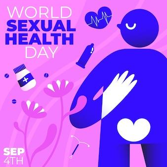 Wereld seksuele gezondheid dag illustratie