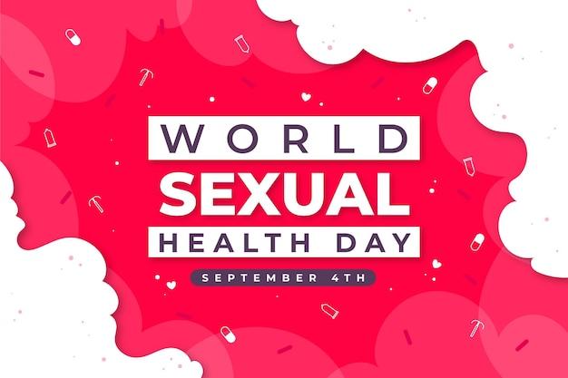 Wereld seksuele gezondheidsdag behang