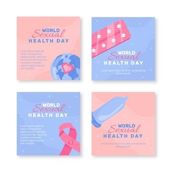 Wereld seksuele gezondheidsdag instagram posts collectie