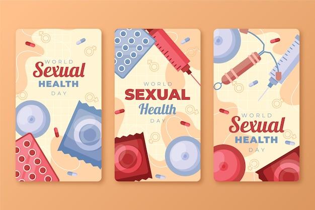 Wereld seksuele gezondheidsdag instagram verhalencollectie