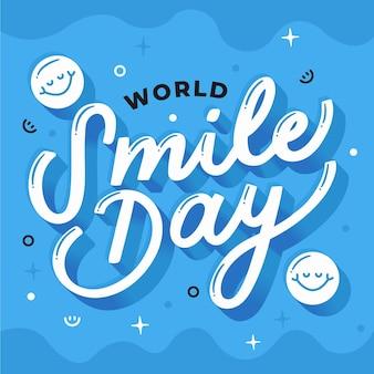 Wereld smile dag belettering