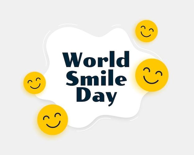 Wereld smile dag smiley achtergrond