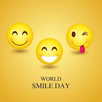 Wereld smile day emoji
