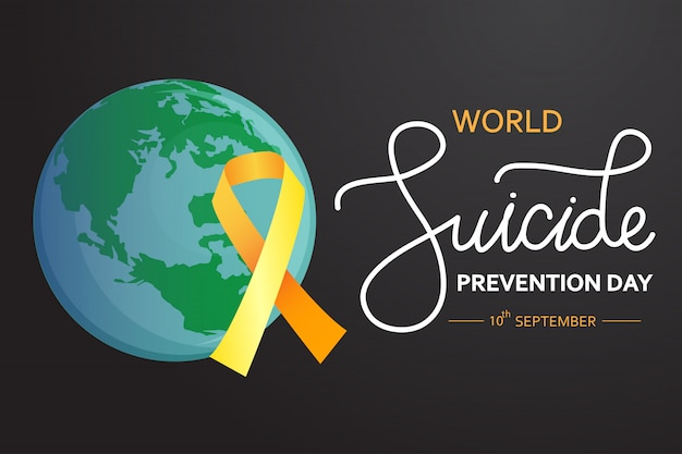 Wereld suicide prevention day concept