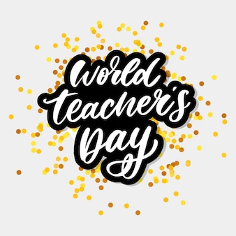 Wereld teacher's day belettering