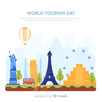 Wereld toerisme achtergrond van de dag