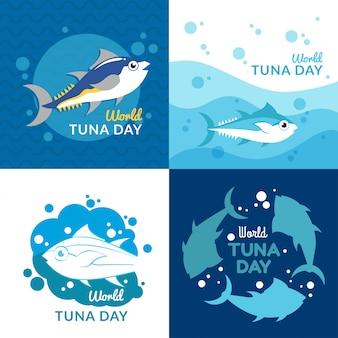Wereld tonijn dag illustratie