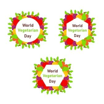 Wereld vegan dag, gezonde voeding achtergrond ontwerpsjabloon