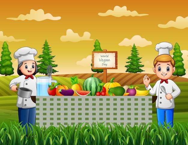 Wereld veganistisch daggroet