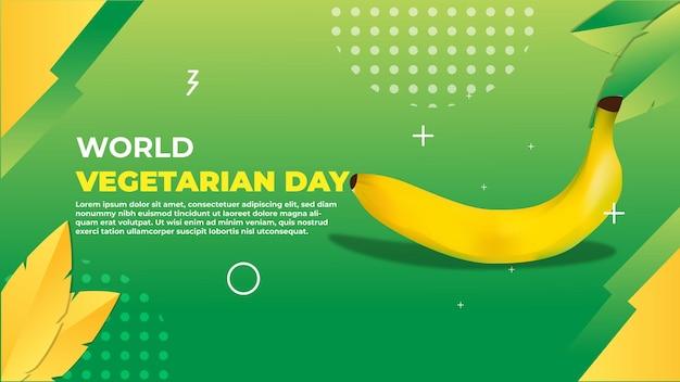 Wereld vegetarische dag banner