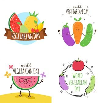 Wereld vegetarische dag illustratie