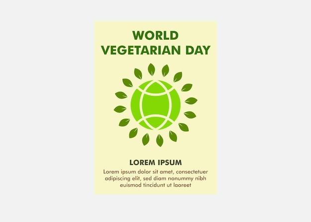 Wereld vegetarische dag poster ontwerpsjabloon flyer ontwerpsjabloon perfect voor marketing en promo