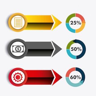 Wereld verbindingen en zakelijke infographic
