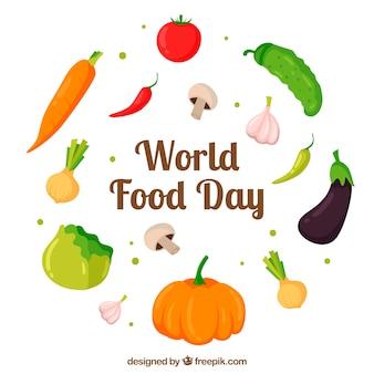 Wereld voedsel dag achtergrond
