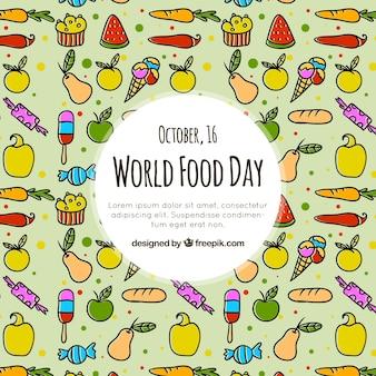 Wereld voedsel dag patroon achtergrond