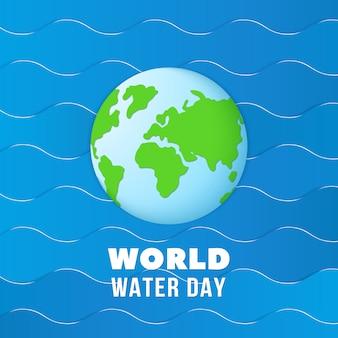 Wereld water dag achtergrond