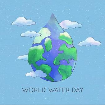 Wereld water dag aquarel