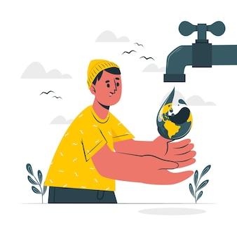 Wereld water dag concept illustratie