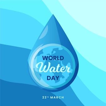 Wereld water dag hand getrokken