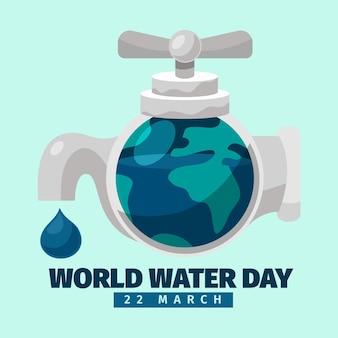 Wereld water dag illustratie