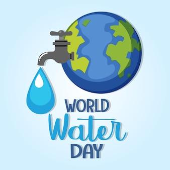 Wereld water dag pictogram illustratie