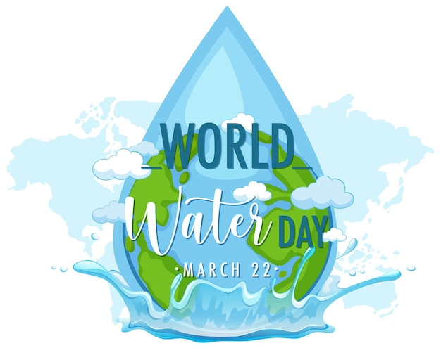 Wereld water dag pictogram