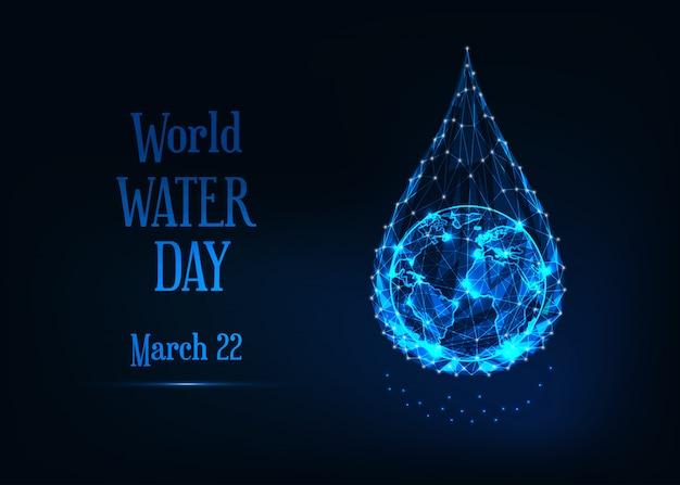 Wereld water dagsjabloon voor spandoek
