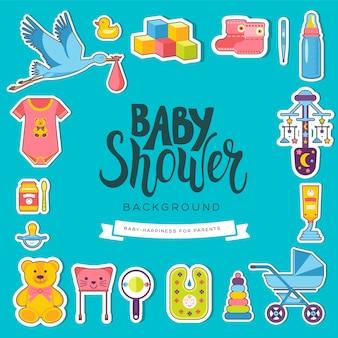 Wereld weekkaarten voor borstvoeding. kinderelementen van flyear, tijdschriften, posters, boekomslag, banners.
