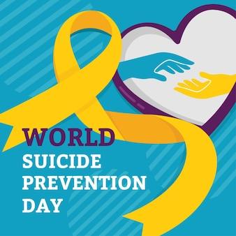 Wereld zelfmoordpreventie dag concept