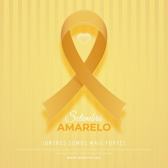 Wereld zelfmoordpreventie dag geel lint
