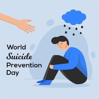 Wereld zelfmoordpreventie dag illustratie