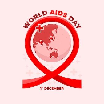 Wereldaidsdag met wereldbolachtergrond